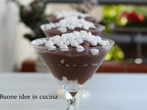 Coppe di cioccolato alla vaniglia