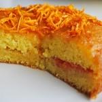 Torta  con arance glassate, ricetta semplice