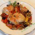 pollo con funghi e peperoni