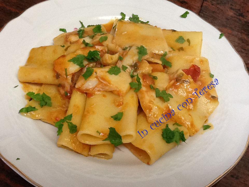 Paccheri con ragu 39 di baccala 39 categorie primi piatti for Ricette in cucina