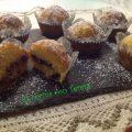 muffin con bacche di goji e gocce di cioccolato