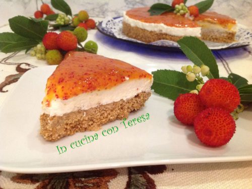 CHEESECAKE con COULIS di CORBEZZOLI