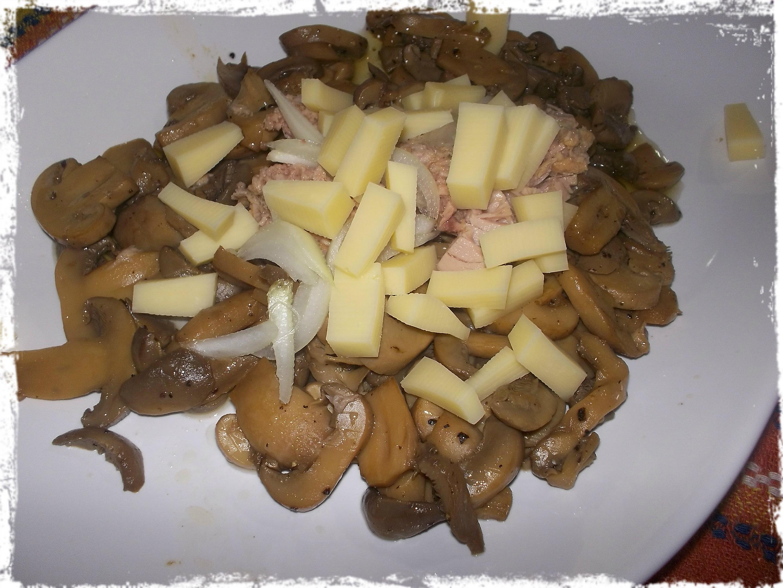 insalata di funghi e tonno