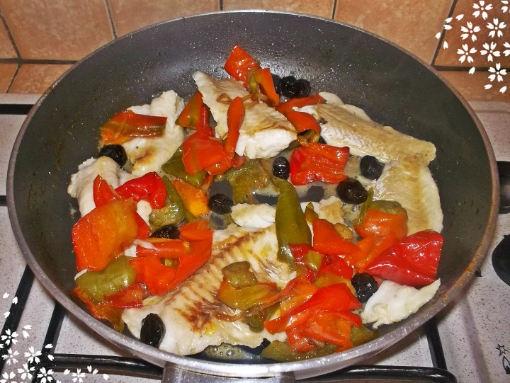 6 Filetto di merluzzo con peperoni-InCucinaConZiaMemè