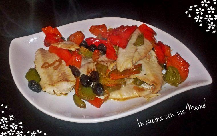 Filetti di merluzzo con peperoni