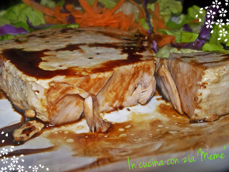 Trancio di tonno fresco in padella in cucina con zia meme 39 - Cucinare tonno fresco in padella ...