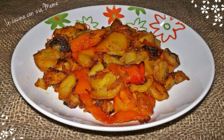 Peperoni e patate  ( pip e patan – ricetta calabrese)