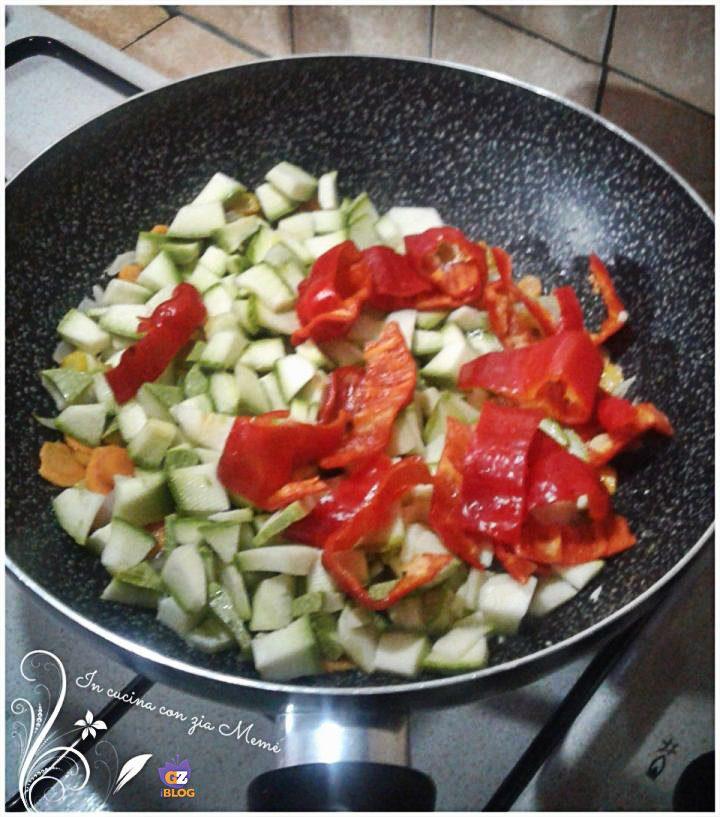 Strudel di patate con verdure