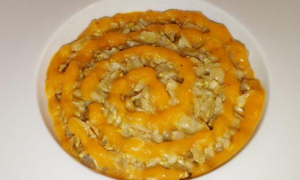 Porridge con crema di pomodoro