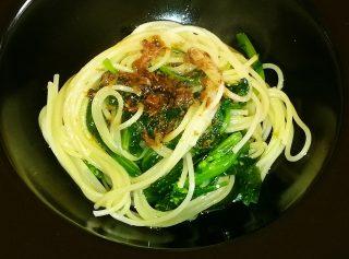 Spaghetti con cime di rapa e acciughe