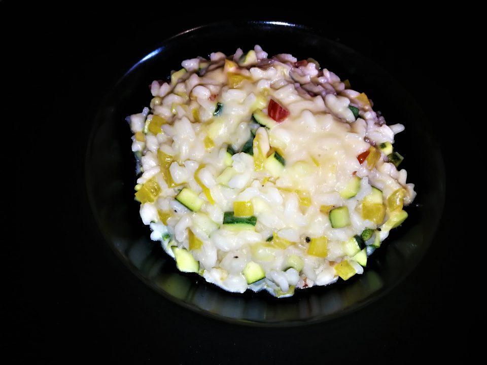 Risotto light con verdure croccanti