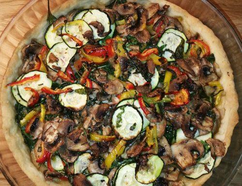 Torta salata di verdure veloce