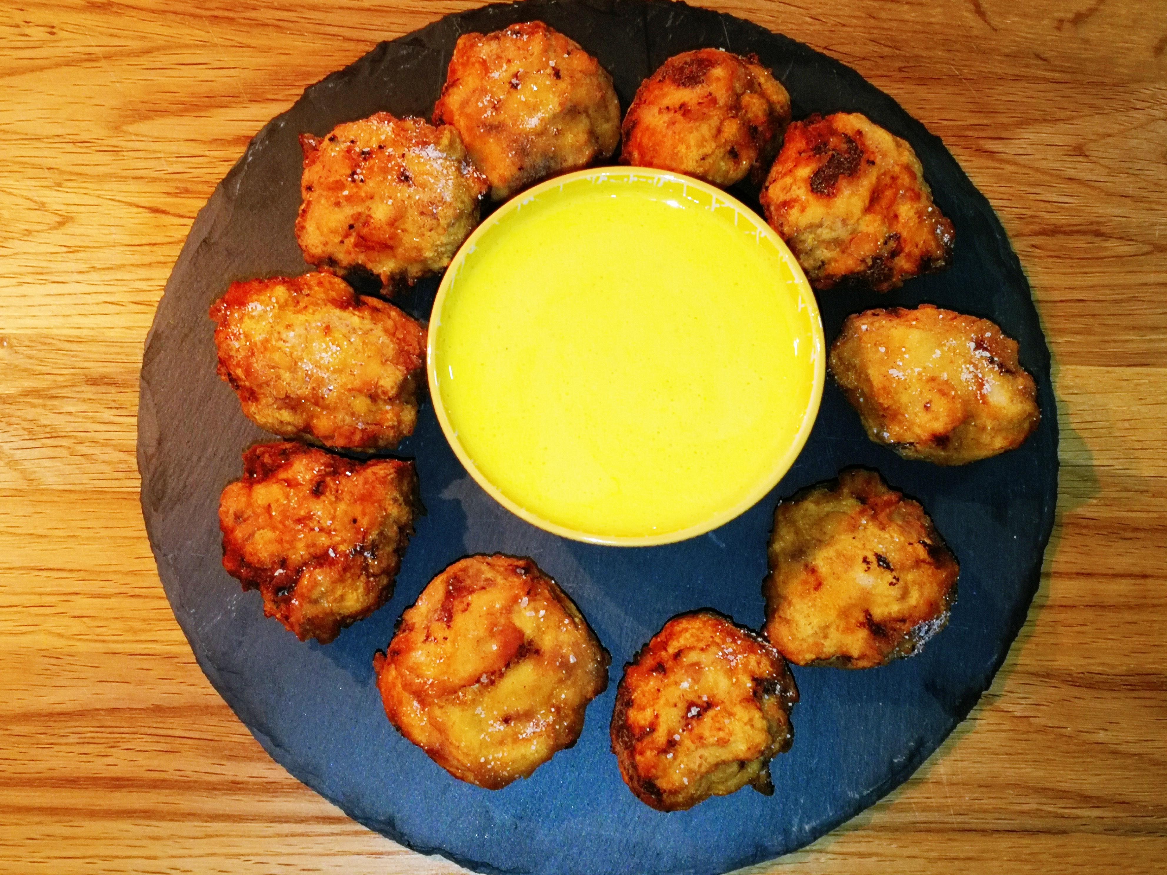 Nuggets di pollo con maionese al lime e pepe
