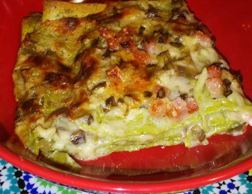 Lasagne verdi ai carciofi e pancetta