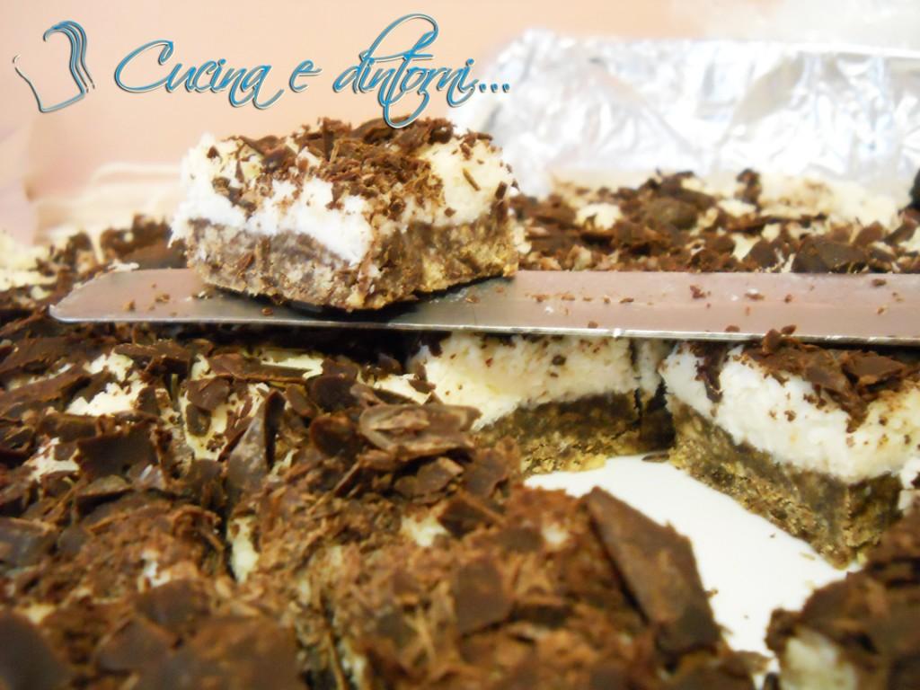 Torta di salame al cioccolato e cocco