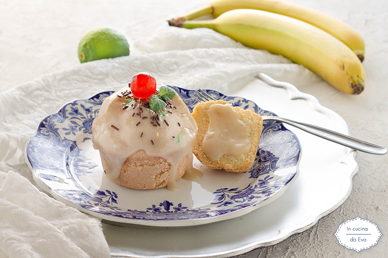 Muffin con crema di banana
