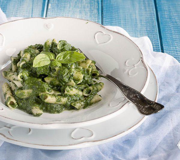 Pasta-al-pesto-di-spinaci