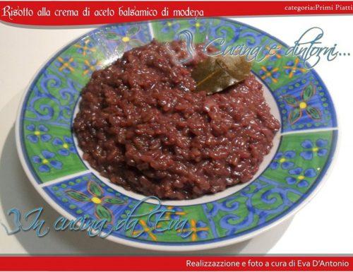 Risotto alla crema di aceto balsamico di modena