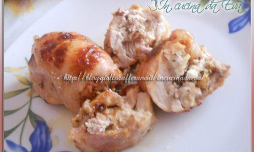 Involtini di sovra coscia di pollo e ricotta
