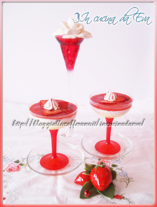 Mousse di fragole e mascarpone