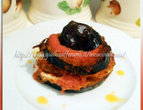 Torrette rustiche di melanzane e patate