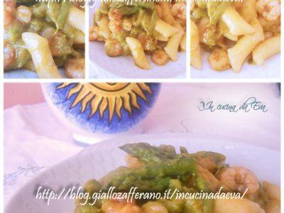 Gnocchi D'Annunziani con asparagi e scampi rosati
