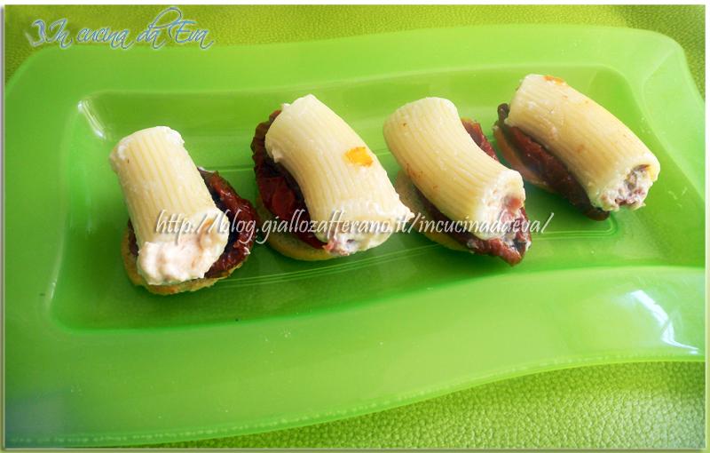 Rigatoni finger food