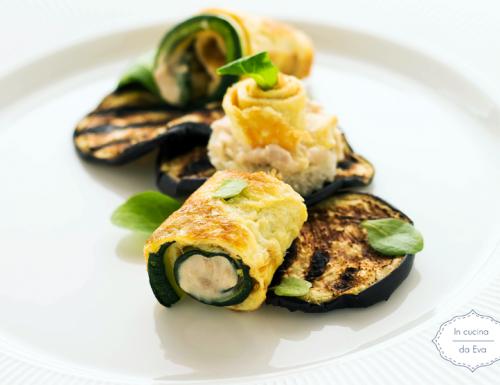 Antipasto misto di ortaggi e uova