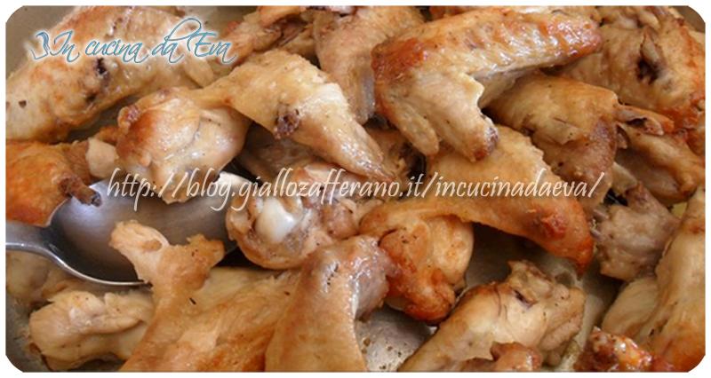 Ali di pollo in padella