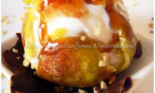 Gelato panna fichi nocciole | aceto crema di mele