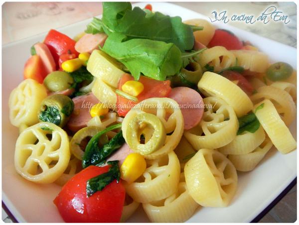 Ruote in insalata ricetta golosissima freschissima