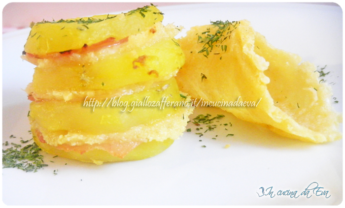 Tortino di patate con foglie di formaggio