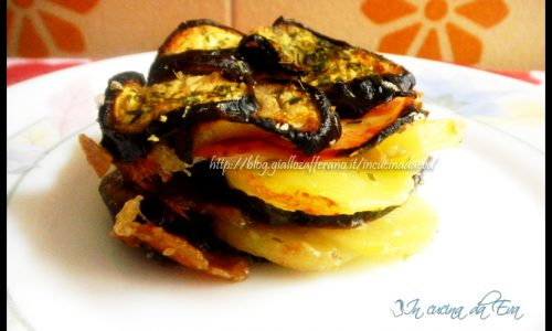 Tortina di patate melanzane e patate