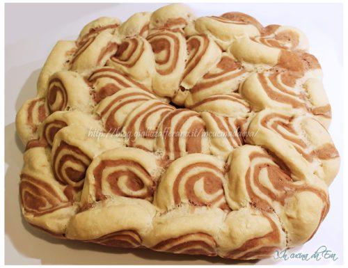 Corona di pane bicolore