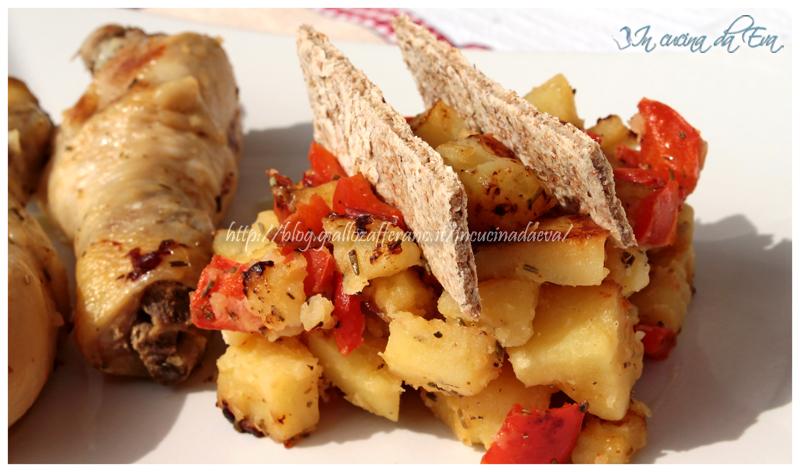 pollo in umido con patate e peperoni