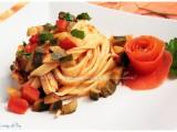 tagliatelle zucchine e peperoni light