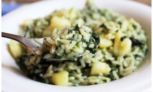 Riso patate e spinaci