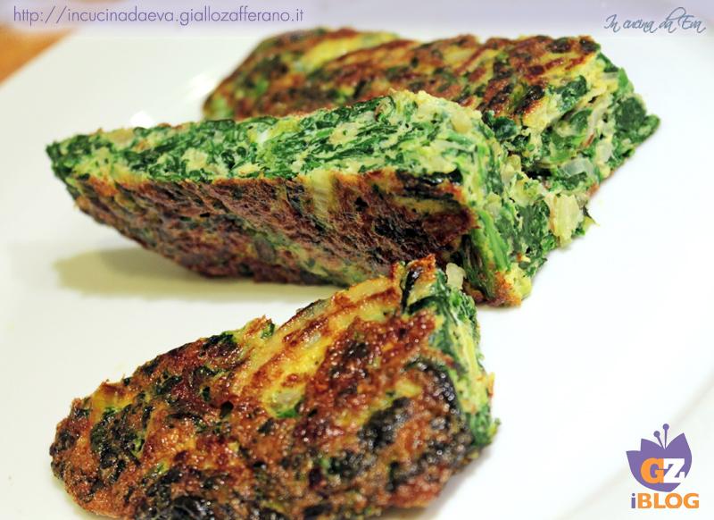 frittata di spinaci porri e cipolla