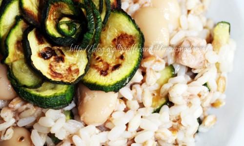 Riso ai tre cereali fagioli tonno zucchine