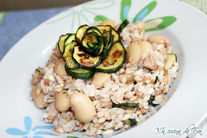 riso ai tre cereali zucchine tonno e faglioli2