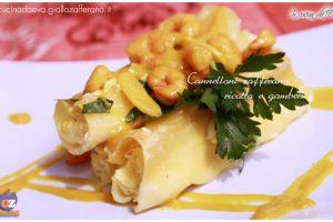 Cannelloni zafferano ricotta e gamberi