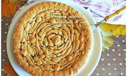 Crostata morbida marmellata di uva