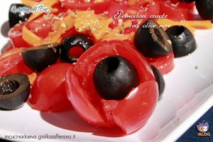 Pomodori carote ed olive nere