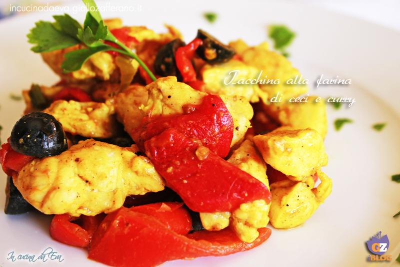Tacchino con farina di ceci e curry