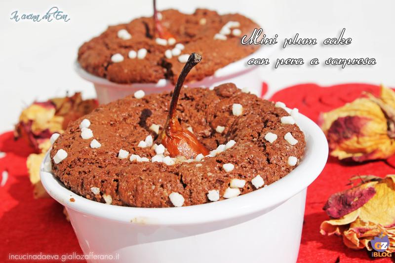 Mini plum cake con pera a sorpresa