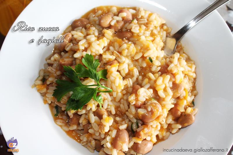 riso zucca e fagioli