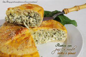 Rustico con pasta madre ricotta e spinaci
