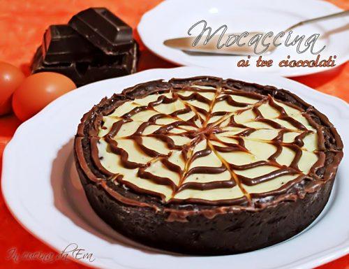 Mocaccina ai tre cioccolati