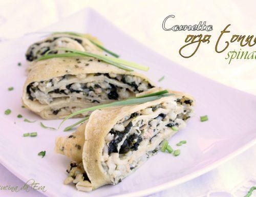 Cornetto orzo tonno spinaci