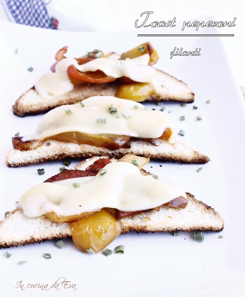 Toast peperoni filanti